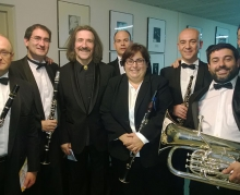Luis Cobos con miembros de la JD de AMProBand